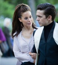 Pictured: (l-r) Roxanne McKee as Claire Luke Gale as William -- (Photo by: Ilze Kitshoff/Syfy)