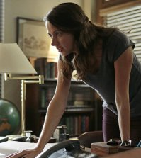 Amy Acker as Root. Photo: Giovanni Rufino/Warner Bros. Entertainment Inc.