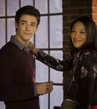 Pictured (L-R): Grant Gustin as Barry Allen and Candice Patton as Iris West -- Photo: Jack Rowand/The CW