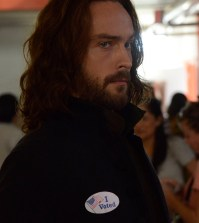 """Ichabod (Tom Mison) votes in the """"Deliverance"""" episode of SLEEPY HOLLOW. Co. CR: Brownie Harris/FOX"""