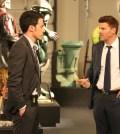 Booth (David Boreanaz, R) and Special Agent James Aubrey (guest star John Boyd). Co. Cr: Patrick McElhenney/FOX