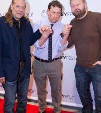 Pictured: Greg Nicotero, Scott Gimple and Robert Kirkman. Photo by Abel Fermin / PhotosByAbel.com