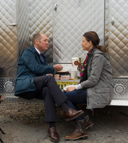 Pictured: (l-r) James Spader as Red Reddington, Scottie Thompson as Zoe Dantonio -- (Photo by: Virginia Sherwood/NBC)