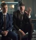 Detecitves James Gordon (Ben McKenzie, L) and Harvey Bullock (Donal Logue, R). Co. Cr: Jessica Miglio/FOX
