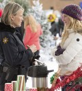 Pictured (L-R): Marguerite MacIntyre as Sheriff Forbes and Candice Accola as Caroline -- Photo: Bob Mahoney/The CW
