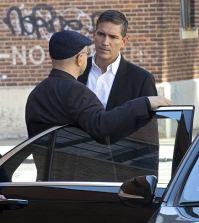 Reese (Jim Caviezel, right) and Elias (Enrico Colantoni, left). Photo: John Paul Filo/CBS