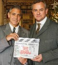 Pictured: George Clooney and Hugh Bonneville. photograph is (C) ITV Plc