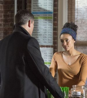 Pictured: Jim Caviezel (left) as Reese and Annie Ilonzeh (right) as Harper. Photo: John Paul Filo/CBS