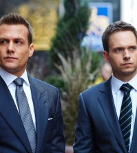 Pictured: (l-r) Gabriel Macht as Harvey Specter, Patrick J. Adams as Michael Ross -- (Photo by: Shane Mahood/USA Network)