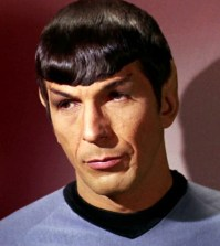 The late Leonard Nimoy as Star Trek's Spock
