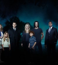 """THE WHISPERS - ABC's """"The Whispers"""" star Lily Rabe as Claire Bennigan, Barry Sloane as Wes Lawrence, Milo Ventimiglia as John Doe, Derek Webster as Jessup Rollins, Kristen Connolly as Lena Lawrence, Kylie Rogers as Minx Lawrence, and Kyle Harrison Breitkopf as Henry Bennigan. (ABC/Bob D'Amico)"""