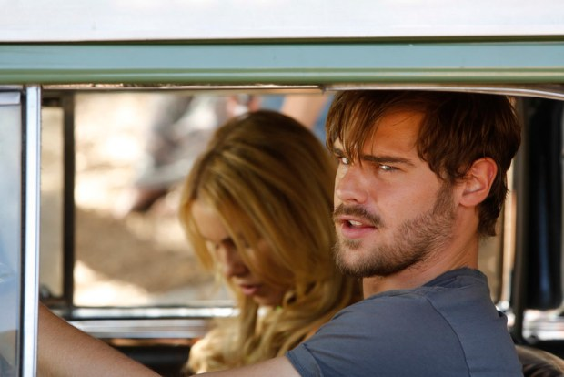 Pictured: Grey Damon as Brian Shafe, Claire Holt as Charmain -- (Photo by: Vivian Zink/NBC)