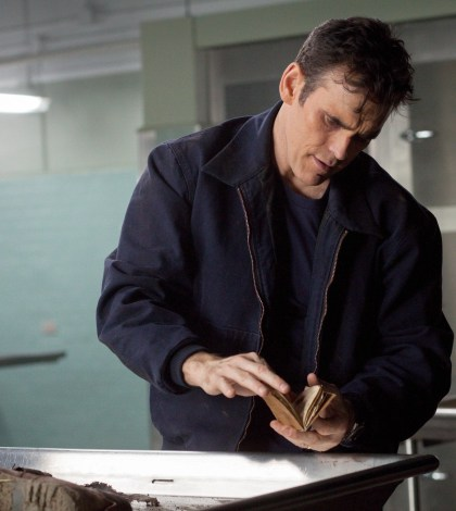 "WAYWARD PINES:  Ethan Burke (Matt Dillon) searches for information in in ""Don't  Discuss Your Life Before"" 
