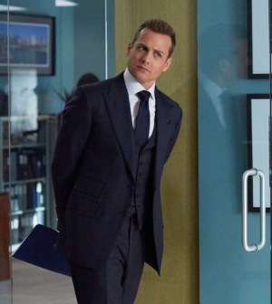 """SUITS -- """"Toe to Toe"""" Episode 505 -- Pictured: Gabriel Macht as Harvey Specter -- (Photo by: Shane Mahood/USA Network)"""