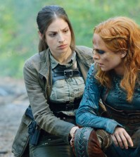 "Pictured: (l-r) Anna Hopkins as Jessica ""Berlin"" Rainer, Stephanie Leonidas as Irisa Nolan -- (Photo by: Ben Mark Holzberg/Syfy)"
