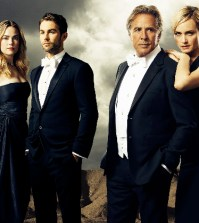 """""""Blood and Oil"""" stars Rebecca Rittenhouse as Cody Lefever, Chace Crawford as Billy Lefever, Don Johnson as Hap Briggs and Amber Valletta as Carla Briggs. (Photo by Kurt Iswarienkio/ABC via Getty Images)"""