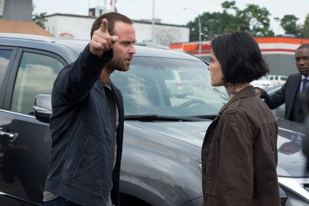 Pictured: (l-r) Sullivan Stapleton as Kurt Weller, Jaimie Alexander as Jane Doe -- (Photo by: JoJo Whilden/NBC)