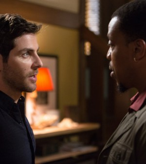 Pictured: (l-r) David Giuntoli as Nick Burkhardt, Russell Hornsby as Hank Griffin -- (Photo by: Scott Green/NBC)