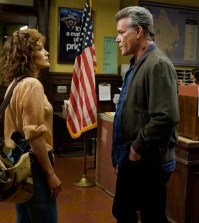 "SHADES OF BLUE -- ""Original Sin""  Episode 102 --  Pictured: (l-r) Jennifer Lopez as Det. Harlee Santos, Ray Liotta as Bill Wozniak -- (Photo by: Peter Kramer/NBC)"