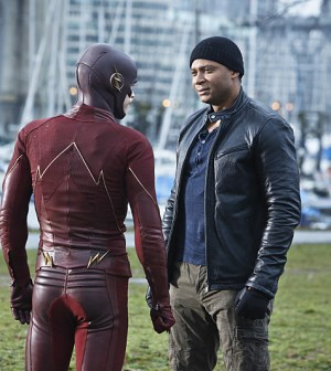 Pictured (L-R): Grant Gustin as Barry Allen / The Flash and David Ramsey as John Diggle -- Photo: Bettina Strauss/The CW