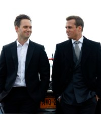 Pictured: (l-r) Patrick J. Adams as Michael Ross, Gabriel Macht as Harvey Specter -- (Photo by: Shane Mahood/USA Network)