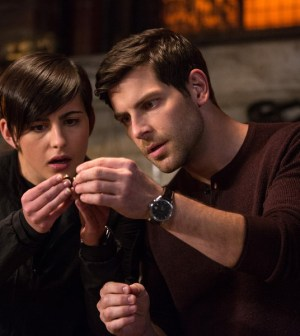 Grimm: Jacqueline Toboni as Trubel, David Giuntoli as Nick Burkhardt