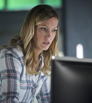 -- Pictured: Katie Cassidy as Laurel Lance -- Photo: Diyah Pera/The CW