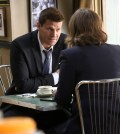 L-R: David Boreanaz and Emily Deschanel. Co.  Cr:  Patrick McElhenney/FOX