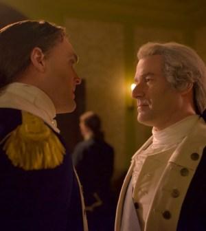 Ian Kahn as General George Washington; Owain Yeoman as Benedict Arnold. Photo Credit: Antony Platt/AMC