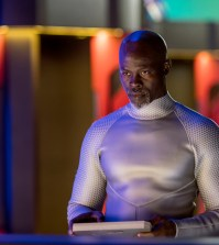 "WAYWARD PINES:  Djimon Hounsou in the ""Bedtime Story"" season finale. Co.  Cr:  Ed Araquel/FOX"
