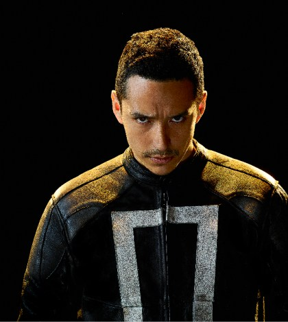 "MARVEL'S AGENTS OF S.H.I.E.L.D. - ABC's ""Marvel's Agents of S.H.I.E.L.D."" stars Gabriel Luna as Robbie Reyes aka Ghost Rider. (ABC/Matthias Clamer)"