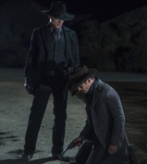 Ed Harris as The Man in Black and James Marsden as Teddy. Photo credit John P. Johnson/HBO