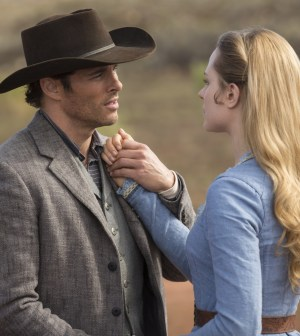 James Marsden as Teddy and Evan Rachel Wood as Dolores. Photo credit John P. Johnson/HBO