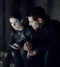 "GRIMM -- ""Oh Captain, My Captain"" Episode 603 -- Pictured: (l-r) Bitsie Tulloch as Juliette Silverton, David Giuntoli as Nick Burkhardt -- (Photo by: Allyson Riggs/NBC)"