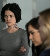 Pictured: (l-r) Jaimie Alexander as Jane Doe, Audrey Esparza as Tasha Zapata, Ashley Johnson as Patterson -- (Photo by: Peter Kramer/NBC)