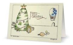 Bright Blue Christmas Card