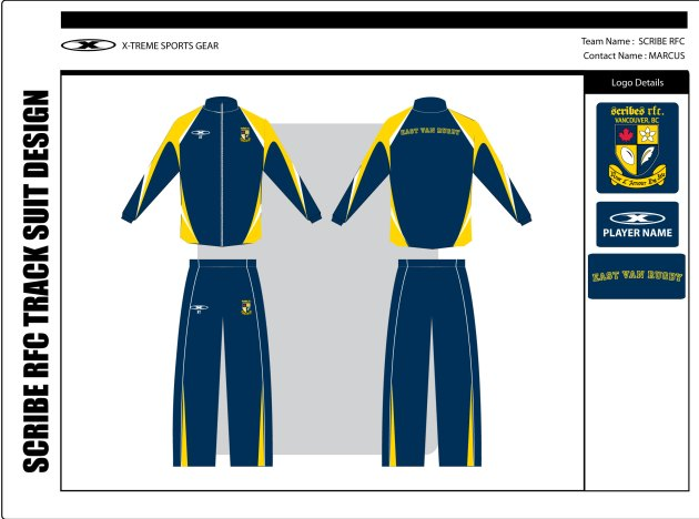 The new Scribes RFC tracksuit.