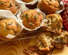 Banana, Pecan and Pumpkin Seed Muffins