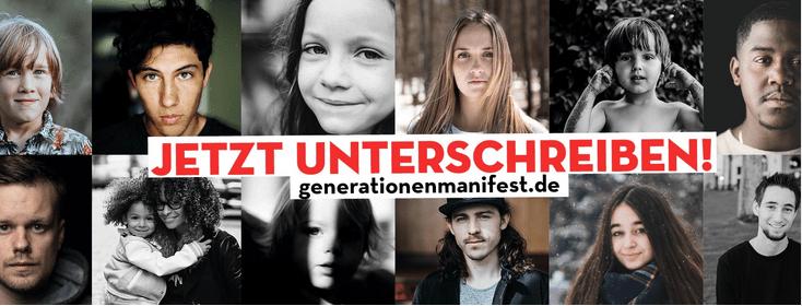 Generationenmanifest unterstützen