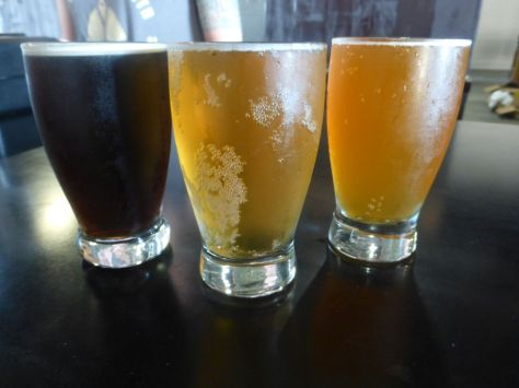 Left to right, Coconut Mild, Berliner Weisse, Pale Ale.