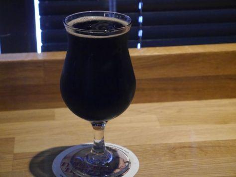 Full pour of bourbon barrel aged zumbar.