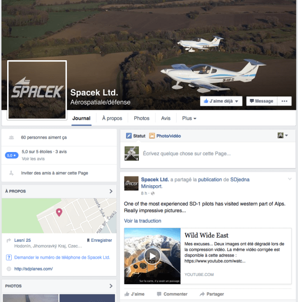 Spacek Facebook