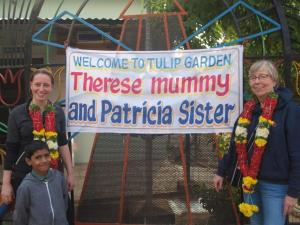 Therese en Patricia aangekomen