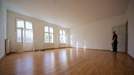 Our big new living room - all we need to do now is to put things in it