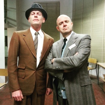 With David White in our 1950s get up.