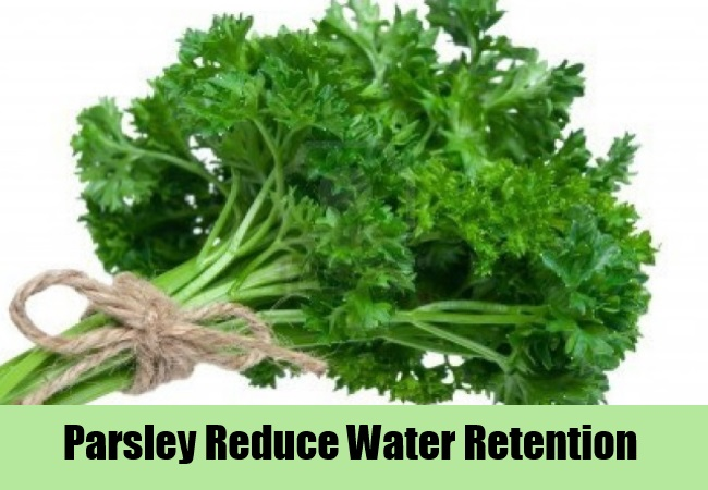 Parsley Reduce Water Retention