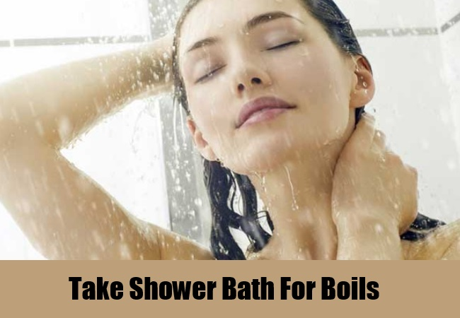 Take Shower Bath For Boils
