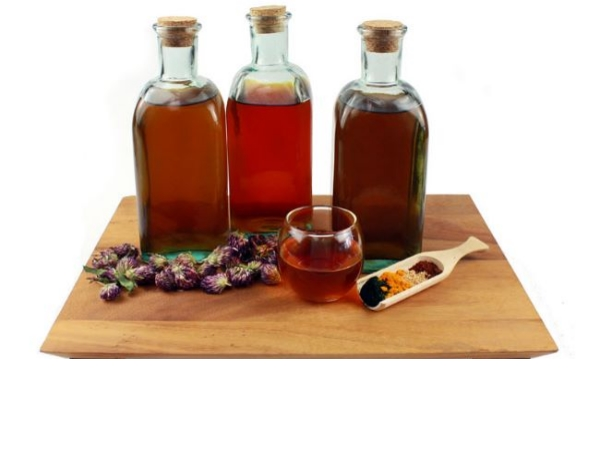 The Tinctures Of Vinegar, Peppermint, Lavender and Tea Tree