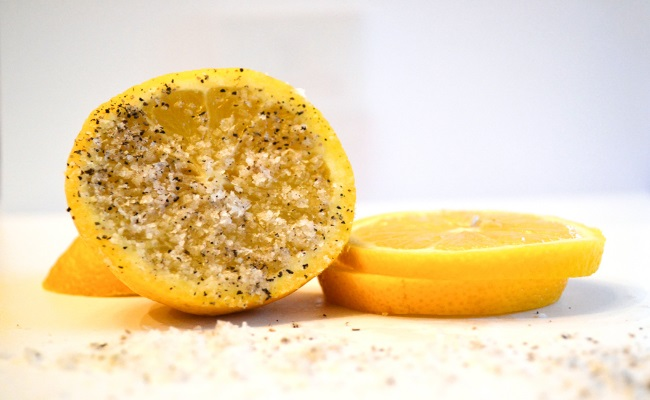 Mixture of Lemon, Salt and Pepper
