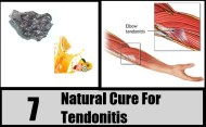 7 Natural Cure For Tendonitis